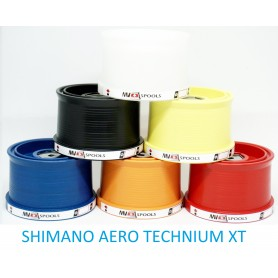 Spools and accessories compatible with fishing reel shimano aero technium xt