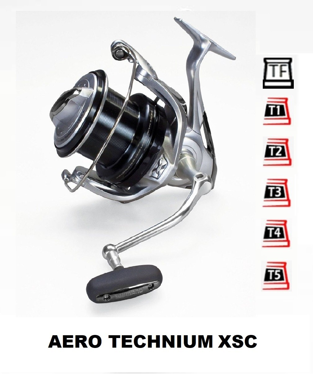 Coils and accessories compatible with fishing reel shimano aero technium xsc