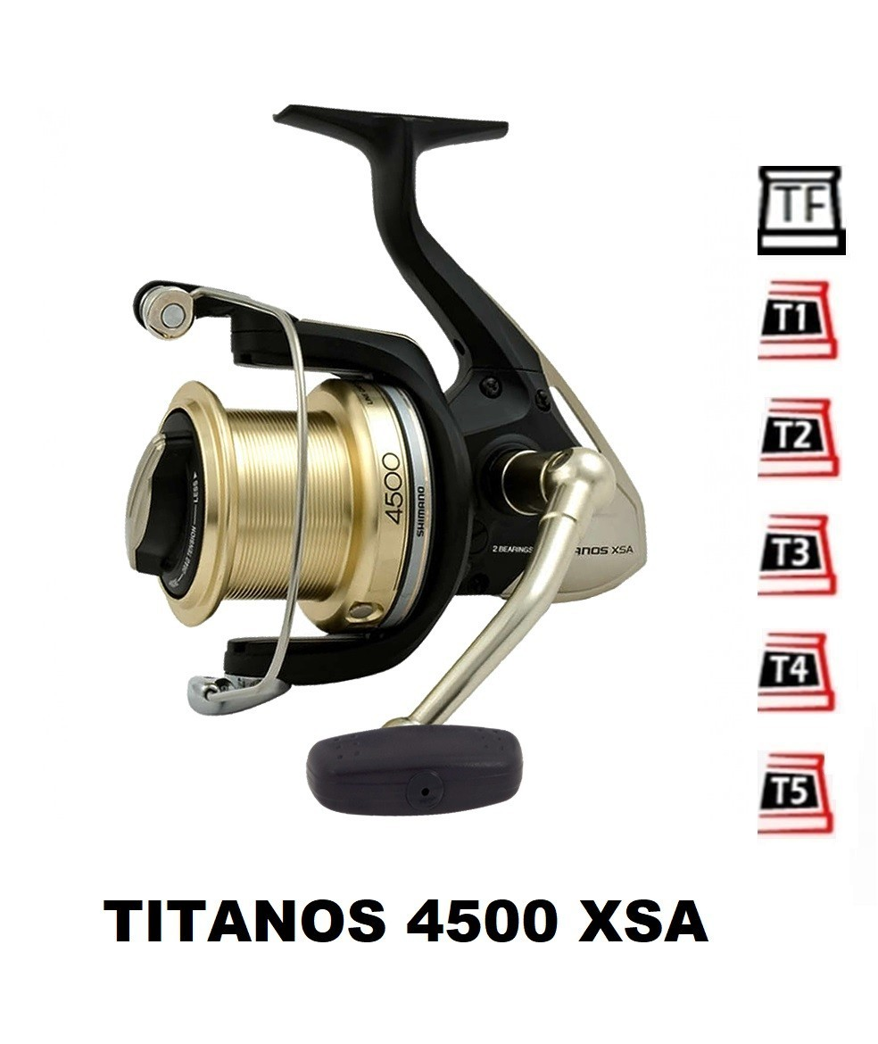 Spare Spools and accessories compatible with fishing reel Shimano Titanos 4500 XSA