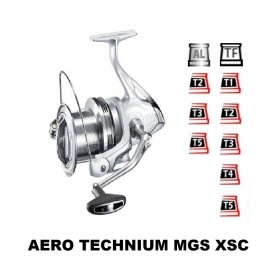 Spools and accessories compatible with fishing reel shimano aero technium mgs xsc