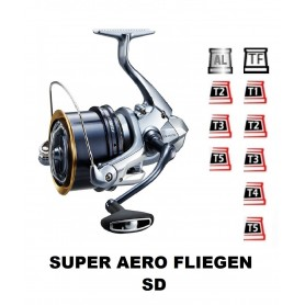 Spools and accessories compatible with fishing reel shimano Super Aero Fliegen sd
