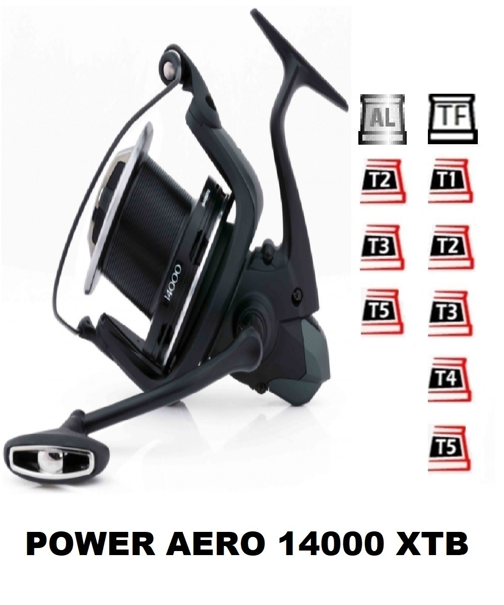 Spools and accessories compatible with fishing reel shimano Power Aero 14000 XTB