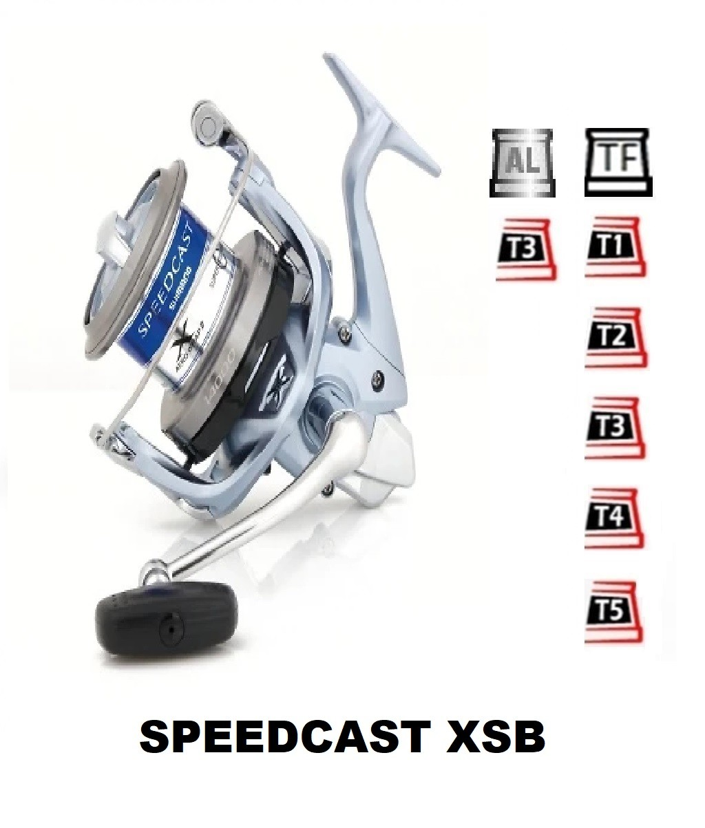 Spools and accessories compatible with fishing reel shimano SpeedCast Xsb
