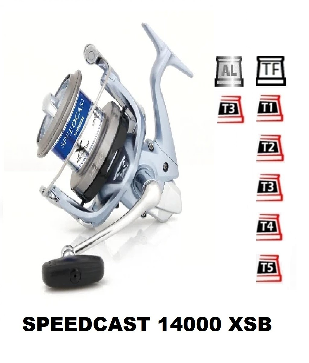 Spools and accessories compatible with fishing reel shimano SpeedCast 14000 Xsb