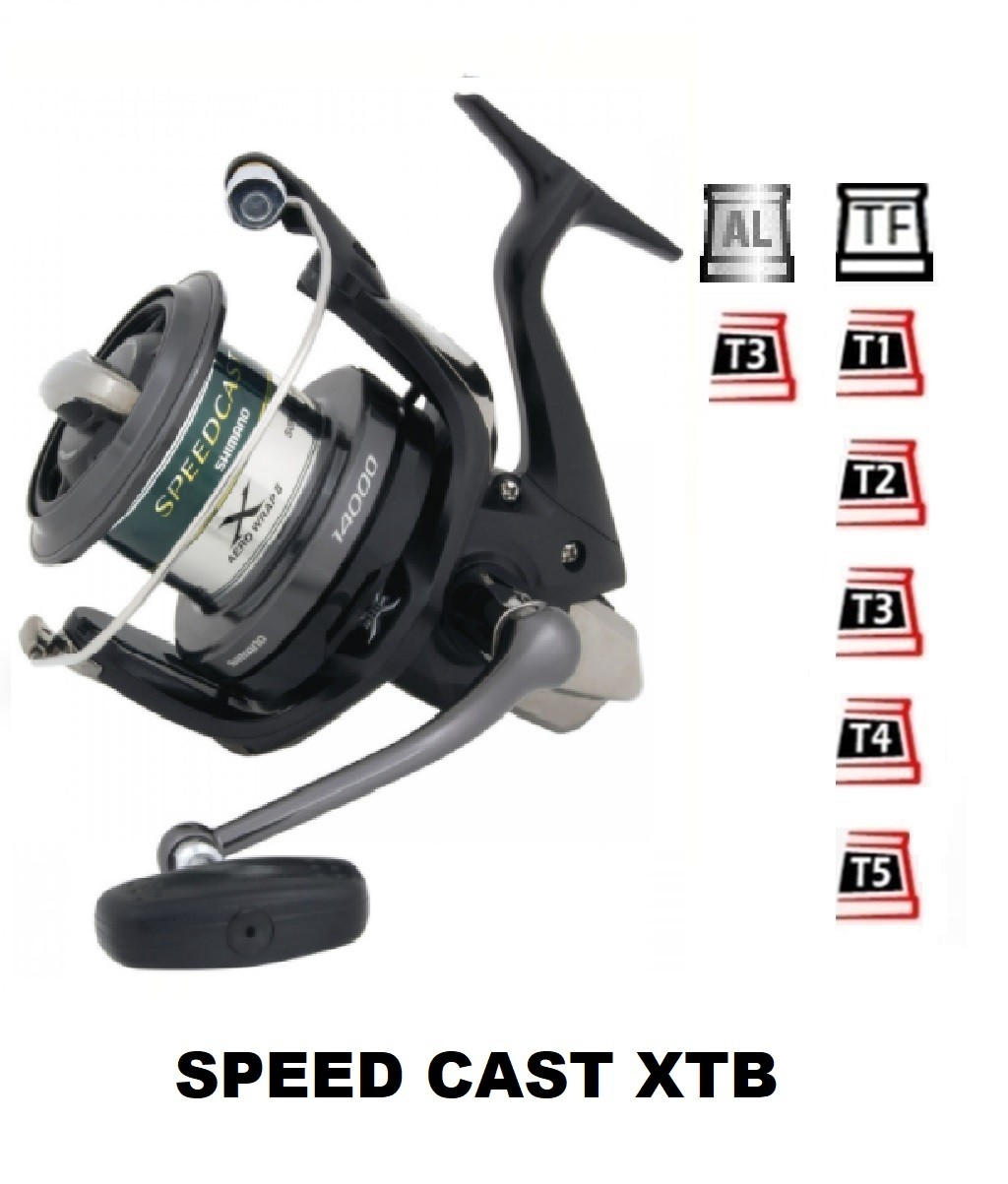 Spools and accessories compatible with fishing reel shimano SpeedCast Xtb