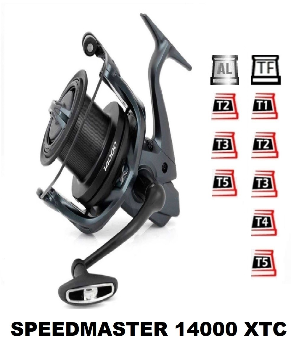 Spools and accessories compatible with fishing reel Shimano Speed Master 14000 XTC